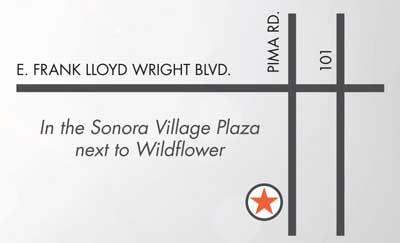 Map Scottsdale Massage Sonora Village Plaza New Serenity Spa
